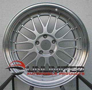 18 VARRSTOEN ES1 STYLE SILVER STAGGERED WHEELS RIMS FIT NISSAN