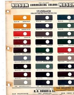 1938 1939 1940 1941 1942 1946 1947 1948 STUDEBAKER TRUCKS PAINT CHIPS