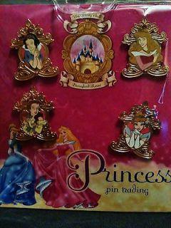 Disney Princess Pins Belle Cindrella Snow White Aurora Sleeping Beauty