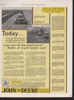 1931 JOHN DEERE FARM TRACTOR EQUIPMENT FIELD PLOW CROP
