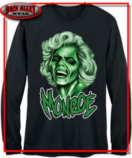 Marilyn Monroe LongSleeve T SHIRT DEAD WALKING M 3XL Hollywood Babe