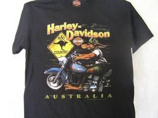 Davidson Motorcycle T Shirt Australia Black M Roo Country Short Sleeve