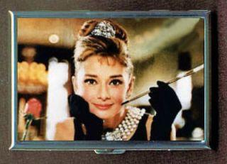 Audrey Hepburn Glamorous Breakfast ID Holder Cigarette Case or Wallet