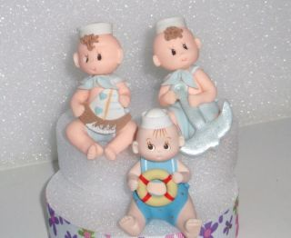 NAUTICAL 1 BABY TOPPER DIAPER CAKE BABY SHOWER BIRTHDAY