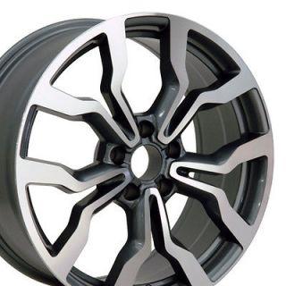 18 Fits Audi   Machined Gunmetal R8 Style Replica Wheel Rim