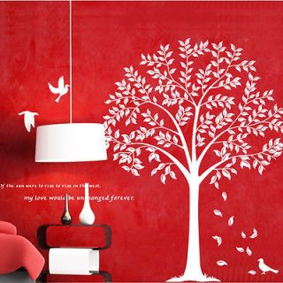Wall Stickers Big Bodhi Tree Home Decor Removable Art Deco Mural
