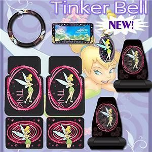 Tinkerbell Optic Tink Car Mats Seat Covers Accessories