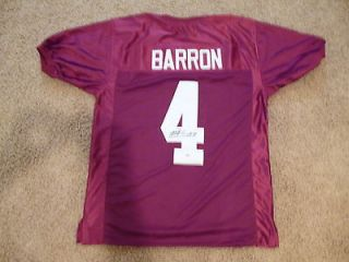 MARK BARRON SIGNED AUTO ALABAMA CRIMSON TIDE JERSEY AAA AUTOGRAPHED