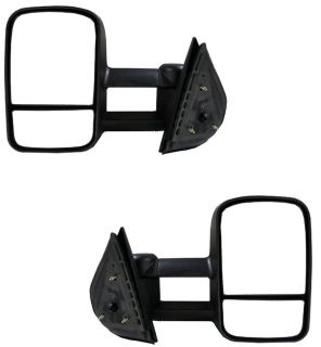 CHEVY GMC TRUCK TOWING MIRRORS MANUAL PAIR R/L 07 11 (Fits 2011
