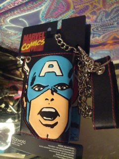 Marvel Comics Captain America Avenger wallet with Chain ~