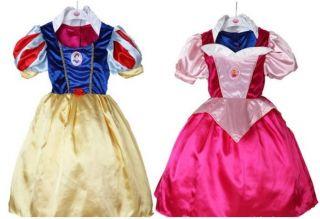 NEW Disney Snow White & Aurora REVERSIBLE COSTUME Dress Up 3 10Yrs