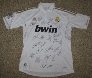 2011 12 Real Madrid team signed jersey shirt Cristiano Ronaldo