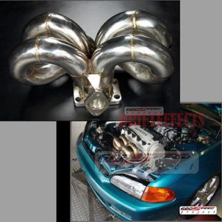 CIVIC EG EK EQUAL LENGTH STAINLESS t3/t4 TURBO EXHAUST MANIFOLD T4E
