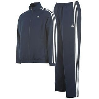 adidas Essentials 3 Stripes Woven Tracksuit Mens Jog Suit. All sizes S
