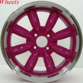 ROTA RB 17X7.5 4X100 ET45 56.1 ROYAL PINK RIMS WHEELS