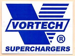 Vortech Superchargers Racing Decals Stickers 3 3/4 Inches Long Size