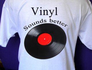 Vinyl Record T shirt (records,LP,pl ayer,45,33,vin tage) All Sizes