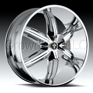 DUB Car Truck Wheel Rim Drone6 Chrome 18 inch 5 Lug