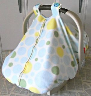 Warm Fleece Baby Car Seat Carrier Canopy Cover Mod Dots, FREE