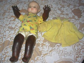 1940 Ideal Magic Skin Baby Doll ~ VGC ~ Sleep Eyes ~ Fast Insured