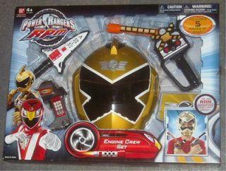 Power Rangers Roleplay Engine Crew Set ranger Gold boxset Bandai
