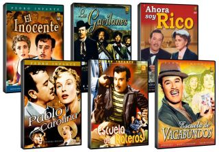 Pedro Infante 6 DVD Set El Inocente Escuela de Vagabundos, Ahora Soy