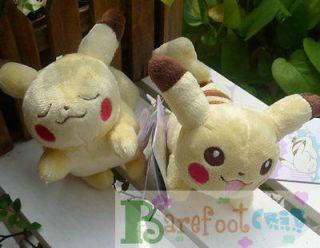 NEW W/tags BANPRESTO POKEMON ~Sleep & Run Pikachu~~ 4 PLUSH DOLLS