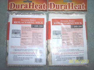 TW0 (2) NEW IN PACKAGE DURA HEAT BRAND, DH 200 KEROSENE HEATER WICKS