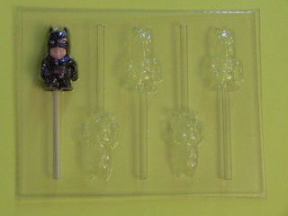 BABY BATMAN Chocolate Candy Soap Clay Lollipop Mold NEW