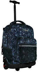 Jworld 18 Rolling Wheeled Backpack Love Letter Black