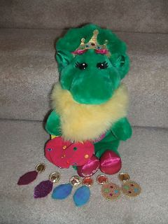 BARNEY THE DINOSAUR BABY BOP PRINCESS PLUSH WITH PURSE AND EARRINGS