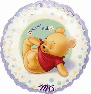 WINNIE THE POOH Mylar BALLOON ~ Baby Shower PARTY Supplies Decorations
