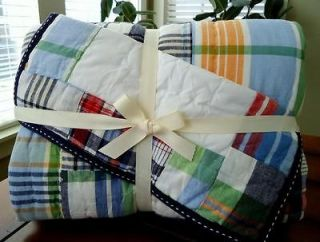 Pottery Barn Kids Madras Plaid Anywhere Chair Cover