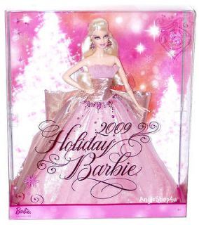 BARBIE PINK HAPPY HOLIDAY 2009 DOLL 50th ANNIVERSARY DOLL