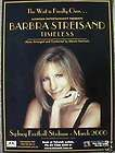Barbra Streisand Back Brooklyn NEWSPAPER CONCERT POSTER CLIPPING