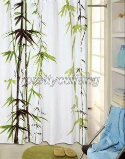 bamboo fabric shower curtain