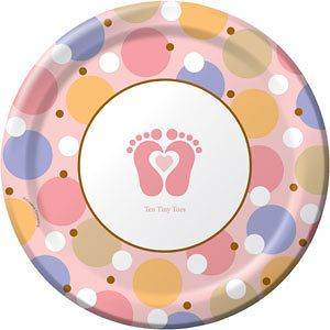 Tiny Toes   Pink Baby Shower Party Supplies, Decorations, Tableware