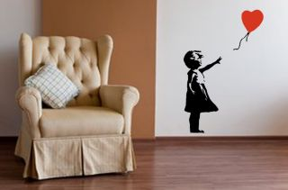 Banksy Style Girl with Balloon Wall Art,Iconic Image,Vinyl Sticker