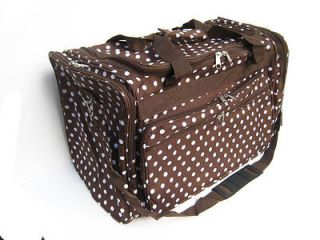 Brown Dots travel Carry on Duffle Bag Large Luggage 22