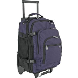 Rolling Wheeled Laptop/Noteboo k Backpack Bag Navy NEW