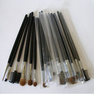 18 Pc Pcs Cosmetic Makeup Eyeshadow Brow Full Sz Mineral Soft Hair