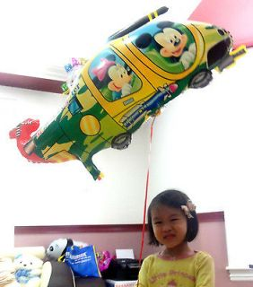 Mickey Minnie Mouse Helicopter Happy Birthday Baby Shower Balloon Jet