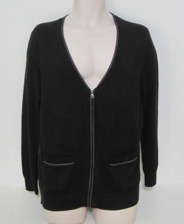 BANANA REPUBLIC Mens Black Wool Blend Cardigan Sweater Size M XXL NWT