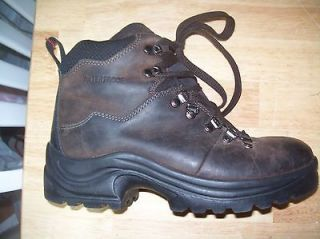 MENS OZARK TRAIL WATERPROOF BROWN LEATHER TRAIL HIKING WINTER BOOTS SZ