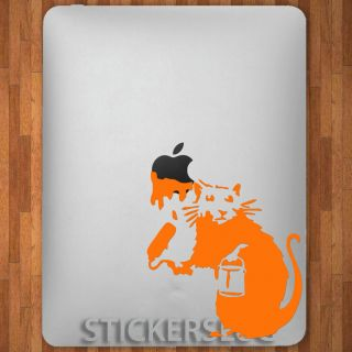 BANKSY HOLLYWOOD STREET GRAFFITI RAT Vinyl Decal Sticker for Apple i