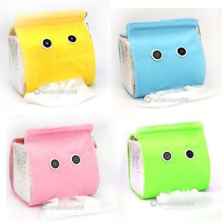 Tissue Holder Dispenser Cover Plush Cloth Toilet Paper Container Box