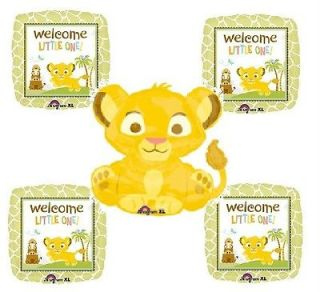 DISNEY LION KING BABY SHOWER balloons Welcome little one Simba KIT OF