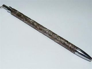 Sterling Silver Repousse Rolex Ballpoint Pen 12 Tribes of Israel