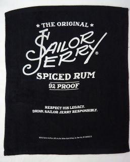 Sailor Jerry Rum Bar Hand Towel BLACK