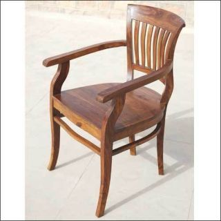 Solid Wood Kitchen Dinette Dining Room Table Side Arm Chairs Furniture